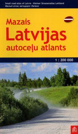 Mažasis Latvijos autokelių atlasas. M 1:200 000
