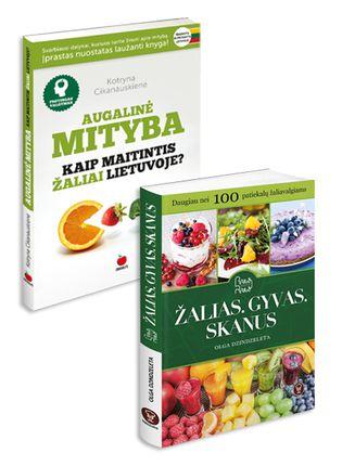 Žalias. Gyvas. Skanus. Daugiau nei 100 patiekalų žaliavalgiams + Augalinė mityba. Kaip maitintis žaliai Lietuvoje?