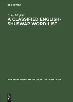A Classified English-Shuswap Word-List