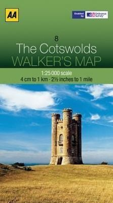 Walker's Map 08 The Cotswolds 1 : 25 000