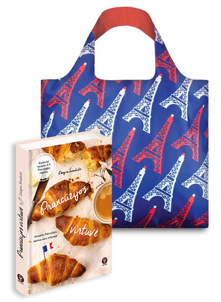 """PRANCŪZIJOS VIRTUVĖ: kulinarinė kelionė po Prancūziją ir daugiau nei 100 gardžiausių regioninės virtuvės receptų + LOQI pirkinių krepšys """"Eiffel Tower"""""""