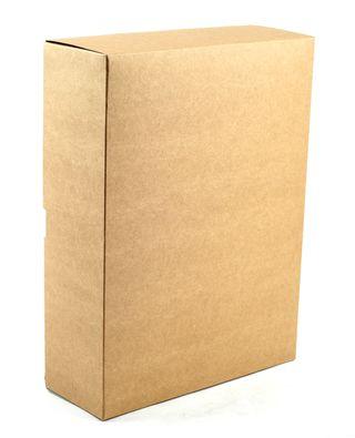 Dėžutė knygoms (ruda, 28 x 21,5 x 8 cm)