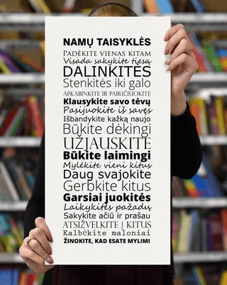 Laimingų namų taisyklės, 25 x 50 cm
