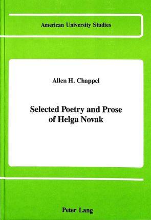 Selected Poetry and Prose of Helga Novak