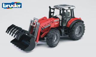 BRUDER traktorius su šakėm priekyje raudonas, 02042