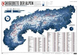 268 Skigebiete der Alpen 1 : 1 200 000