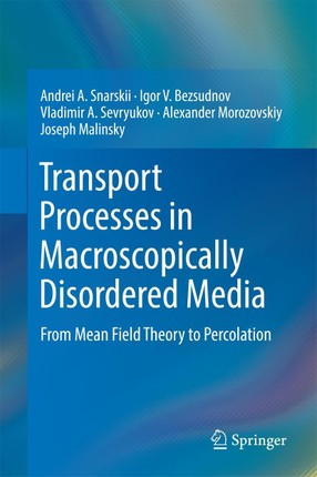 Transport Processes in Macroscopically Disordered Media