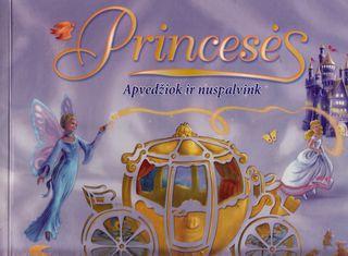 Princesės. Apvedžiok ir nuspalvink