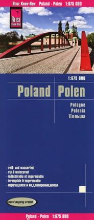 Reise Know-How Landkarte Polen  1:675.000