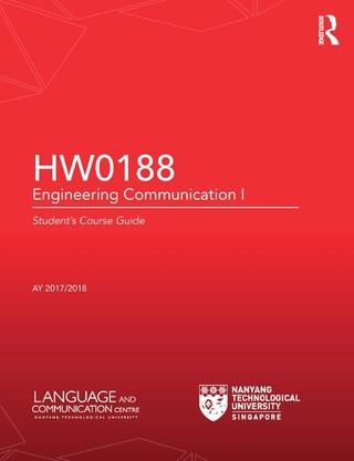 HW0188 Engineering Communication I