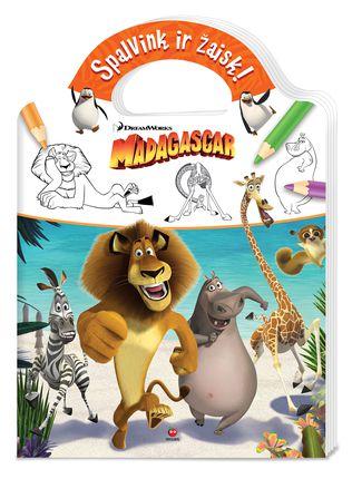 Madagaskaras. Spalvink ir žaisk