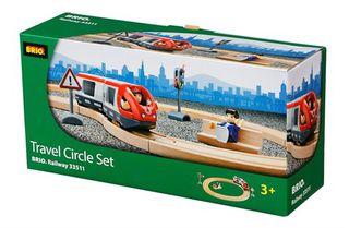 Brio rinkinys su traukinio bėgiais Travel circle, 33511