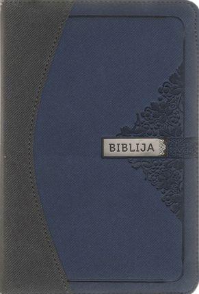 Biblija arba Šventasis Raštas. Kanoninis leidimas, viršelis su užtrauktuku