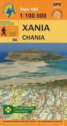 Topografische Landkarte Griechenland 94 Chania (Kreta)  1 : 100 000