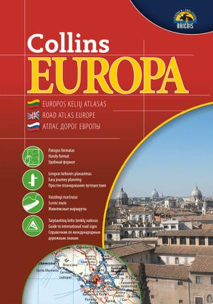 Collins Europa. Kelių atlasas, 1 : 2 000 000