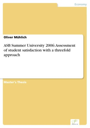 ASB Summer University 2006: Assessment of student satisfaction with a threefold approach