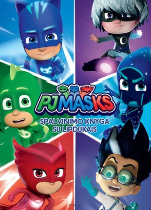 PJ Masks. Pižamų herojai: spalvinimo knyga su lipdukais