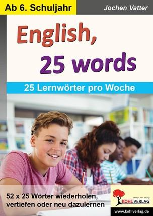 English, 25 words
