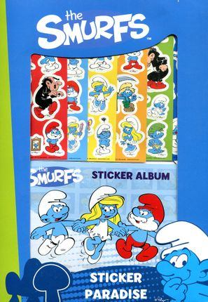 """Smurfs"" sticker paradise album"