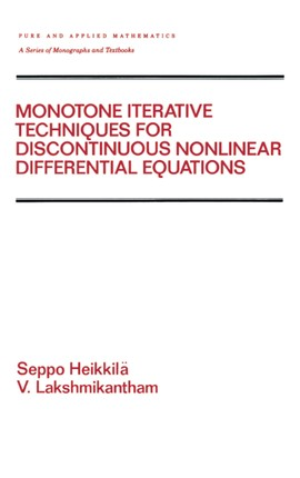 Monotone Iterative Techniques for Discontinuous Nonlinear Differential Equations