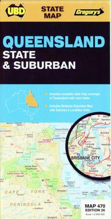 Queensland State & Suburban 1 : 2 600 000
