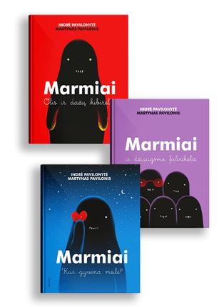 3 knygų rinkinys MARMIAI: įkvepiančios ir jautrios istorijos visai šeimai