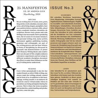 Reading & Writing. 25 Manifestos