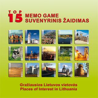 Suvenyrinis memo žaidimas apie Lietuvą