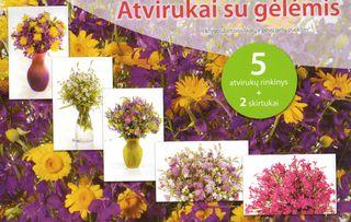 Atvirukai su gėlėmis (violetiniame vokelyje)