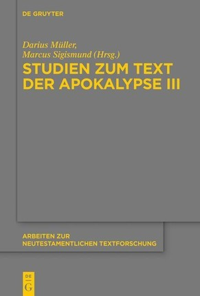 Studien zum Text der Apokalypse III