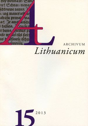 Archivum Lituanicum 15