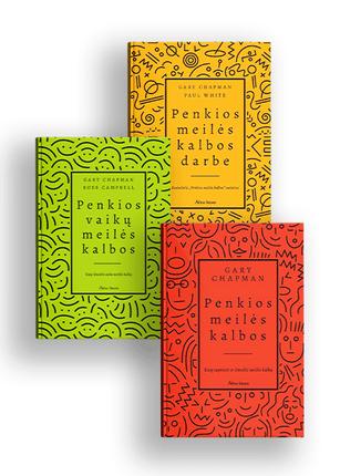 Trijų knygų rinkinys PENKIOS MEILĖS KALBOS: kaip suprasti ir išmokti meilės kalbą