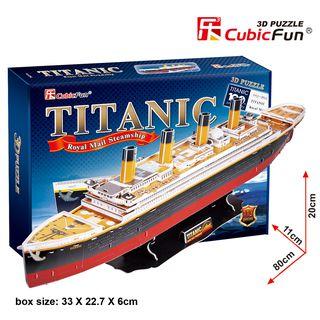 """3D dėlionė: laivas """"Titanikas"""" (didelis)"""