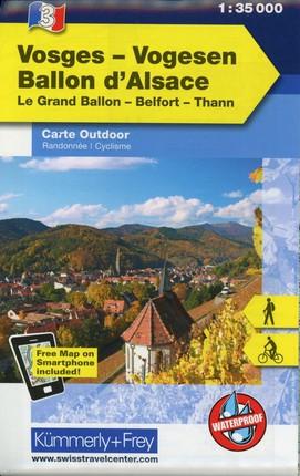 KuF Elsass / Vogesen Outdoorkarte 03 Elsass - Ballon d'Alsace 1 : 35 000