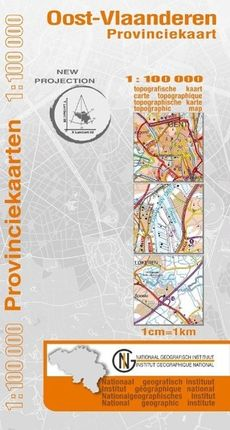 Ost-Flandern Provinzkarte  1 : 100 000