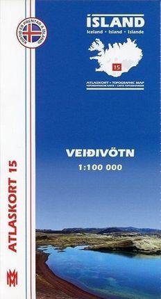 Island Atlaskort 15 Veidivötn 1:100.000