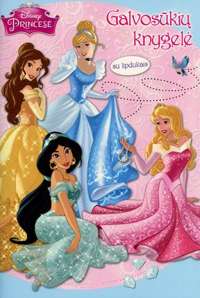 Disney Princesė. Galvosūkių knygelė su lipdukais