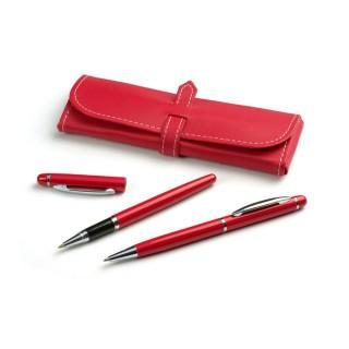 Rašiklių rinkinys: gelinis rašiklis+tušinis MONTANA raudonos sp.