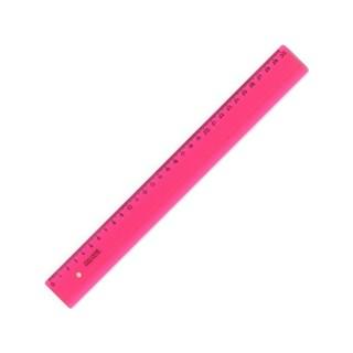 Liniuotė KOH-I-NOOR 30cm,rožinė skaidri plastikinė