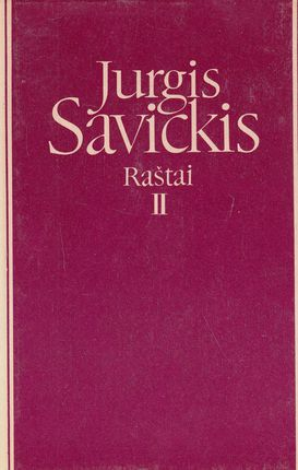 Jurgis Savickis. Raštai II tomas