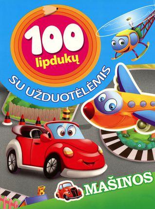 Mašinos. 100 lipdukų su užduotėlėmis