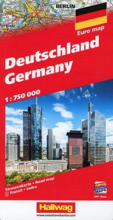 Deutschland Strassenkarte 1:750 000