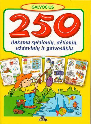 250 linksmų spėlionių, dėlionių, uždavinių ir galvosūkių (geltona)