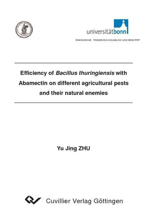Efficiency of Bacillus thuringiensis with Abamectin on different agricultural pests and their natural enemies