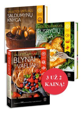 Astos Černės Saulėtos virtuvės bestseleriai: Blynai ir vafliai (naujiena!) + Pusryčių knyga + Saldumynų knyga