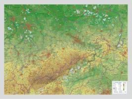 Reliefkarte Sachsen Gross 1 : 325.000