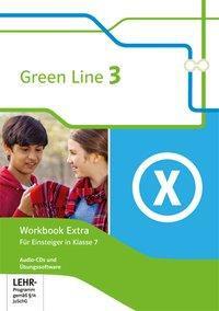 Green Line 3. 7. Klasse. Workbook Extra mit Audio-CDs und Übungssoftware