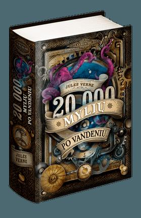 20 000 MYLIŲ PO VANDENIU: prancūzų legendos Jules'io Verne'o mokslinės fantastikos romanas, novatoriškumu bei įžvalgomis pralenkęs savo laiką ir tuo įkvėpęs visas vėlesnes fantastų kartas. Kolekcinis leidimas iliustruotas XIX a. graviūromis!