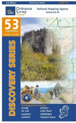 Irish Discovery Series 53. Clare, Galway, Offaly, Tipperary 1 : 50 000