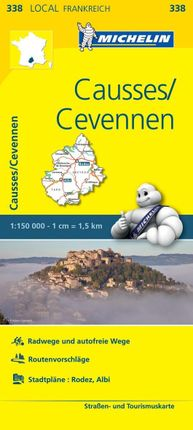Michelin Localkarte Causses - Cevennen 1 : 150 000